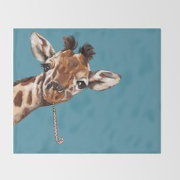 Sneaky Giraffe Throw Blanket