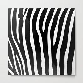 Black and white zebra striped background Metal Print