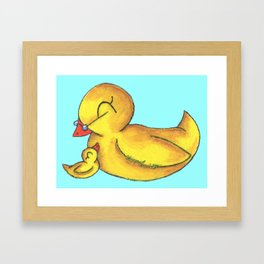 Grandbaby Cuddles (Grandma) Framed Art Print