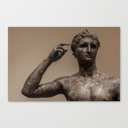 Statue of a Victorious Youth Canvas Print