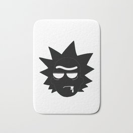 Rick Morty Black Bath Mat
