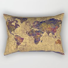 World map Rectangular Pillow