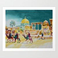 israel Art Prints featuring Israel 1 by CarolBoerckel