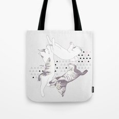 cat triangle  Tote Bag