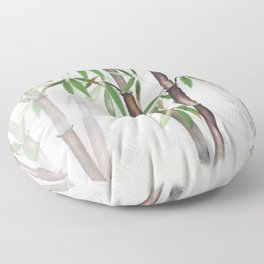 Bamboo Forest on patterned cloth Floor Pillow