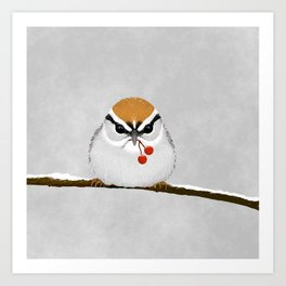 Chipping Sparrow on a Branch Art Print