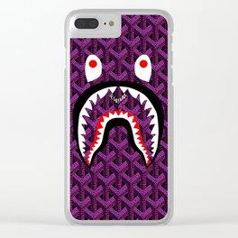 Bape Purple Clear iPhone Case