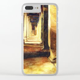 Angkor Wat temple hallway bathed in light- Cambodia.  Fine art Clear iPhone Case