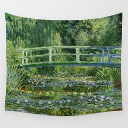 Claude Monet's Water Lilies and Japanese Bridge Wall Tapestry