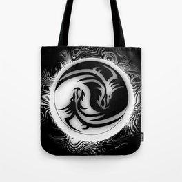 Yin and Yang Dragons Tote Bag