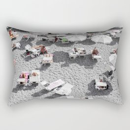 Grey Beach Rectangular Pillow