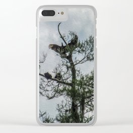 The Vultures are Waiting Clear iPhone Case