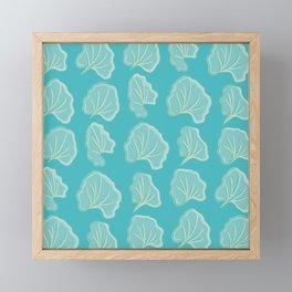 Fan Shape Leaves Pattern Framed Mini Art Print