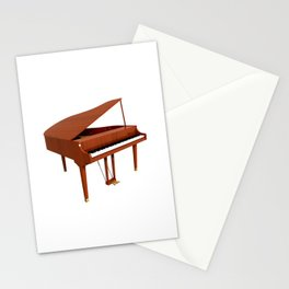 Grand Piano with Wood Finish Stationery Cards