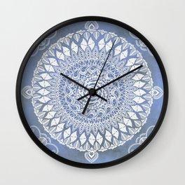 Paisley Moon Henna Mandala Wall Clock