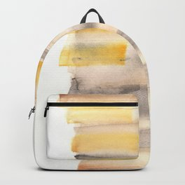 [170105] 11 Color Study Yellow Brown Black|Watercolor Brush Stroke Backpack