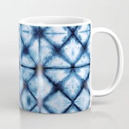 Shibori Paper Blues Coffee Mug