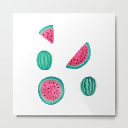 Melons Metal Print