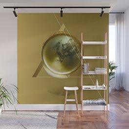Triangular Entangled Moon Gold Wall Mural