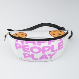 Happy People Play Pickleball Gift Pickleball Present Print Fanny Pack