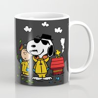 peanuts Mugs featuring Breaking Peanuts by Maioriz Home
