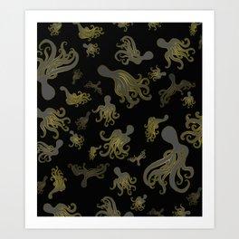 Baby Octopi Art Print