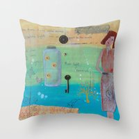 firefly Throw Pillows featuring Firefly by Patty Haberman