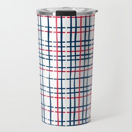 4th of July Skinny Gingham Travel Mug