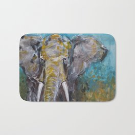 African Elephant Bull Bath Mat