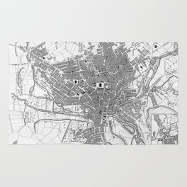Vintage Map of Sheffield England (1823) Rug