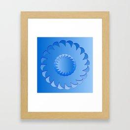 Rounded blue 1 Framed Art Print