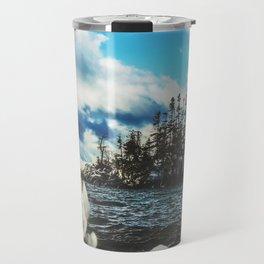 Winter Island Landscape Photograph Travel Mug