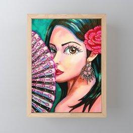 Boho Flower Girl Framed Mini Art Print