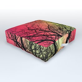 Red Sky At Dawn Outdoor Floor Cushion