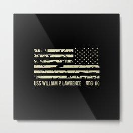 USS William P. Lawrence Metal Print