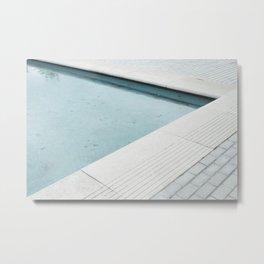 Corner Pool Metal Print