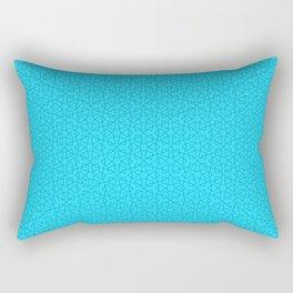 Blue Aqua (Bleu Aqua) Tres Petit Geometric Pattern Rectangular Pillow