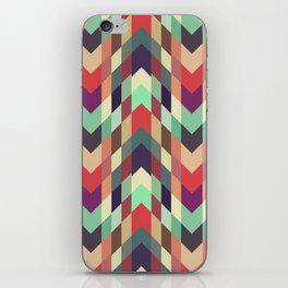 Aztec tribal geometric art, colorful geometric design, pattern design iPhone Skin