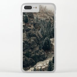 Snowy Colorado River, Rocky Mountains Clear iPhone Case