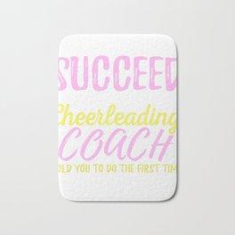 High School Cheerleading Team Coach  Bath Mat