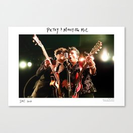 Birds in the Boneyard, Print One: Petey and Mikey on the Mic Canvas Print