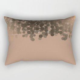Honey Beige Golden Sparkle Lights Rectangular Pillow