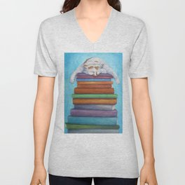 Colonel Mustard in the Library Unisex V-Neck