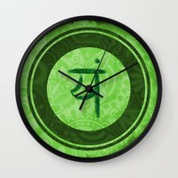 chakra Wall Clocks featuring Chakra Sky by Paulobolmon