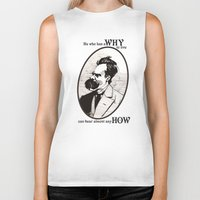 nietzsche Biker Tanks featuring Nietzsche by Scott Davidson