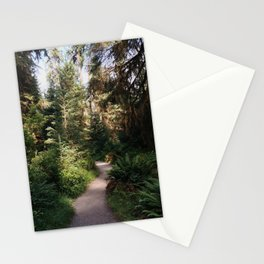 Path through the Hoh Rainforest Stationery Cards