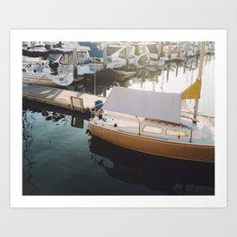 Harbor stills Art Print