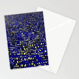 nocturnal chaotic city Stationery Cards