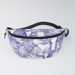just cattle blue white Fanny Pack