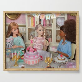 60th Barbie's birthday Serving Tray